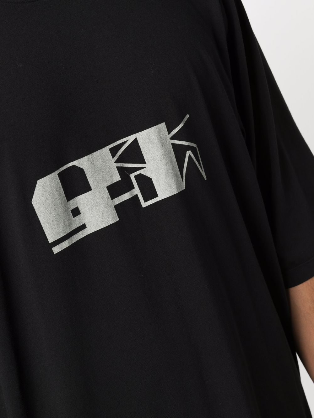 jumbo t-shirt man black in cotton RICK OWENS DRKSHDW   T-shirts   DU02A3274 RNEP40961