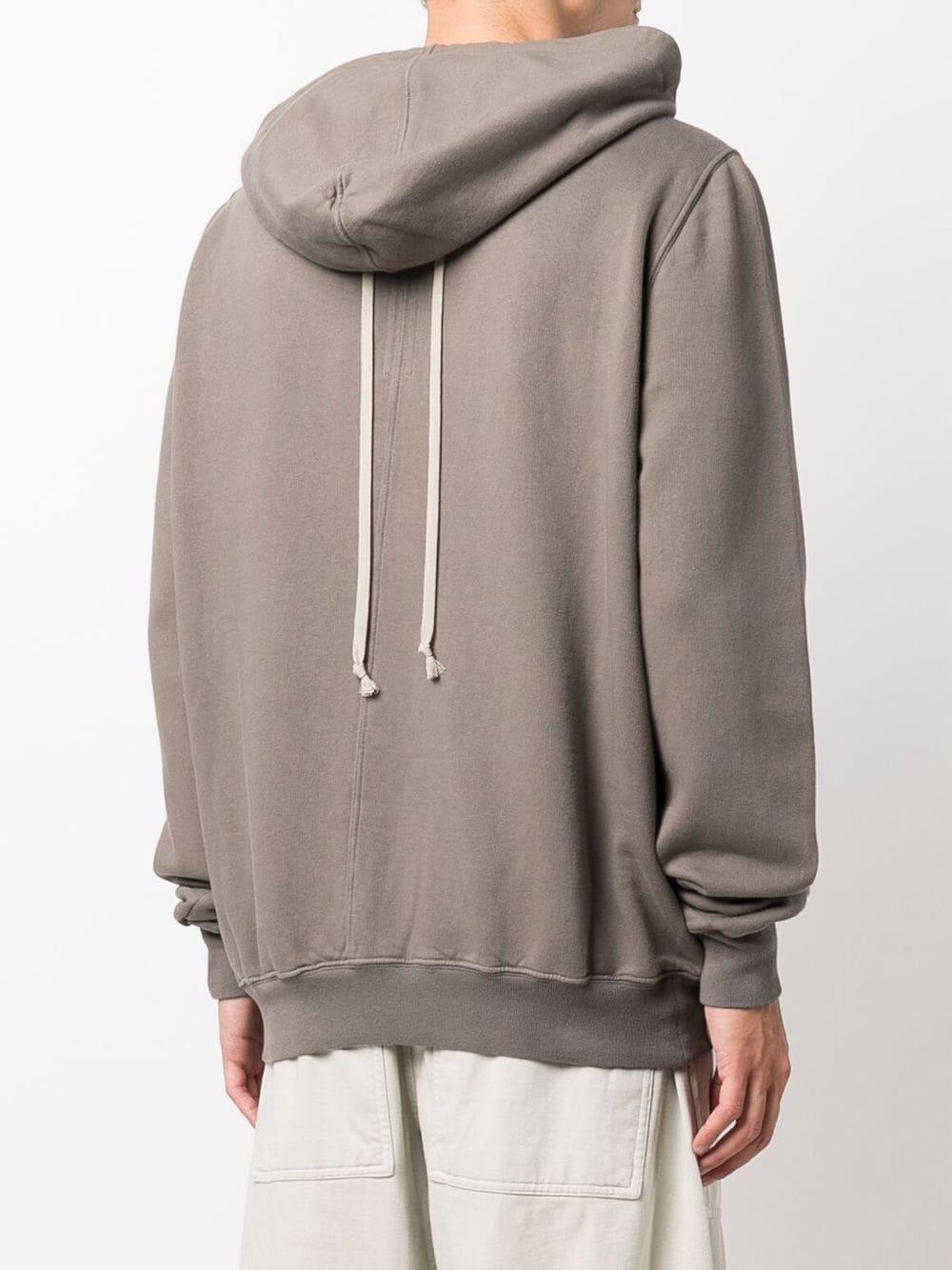 granbury hoodie man dove gray in cotton RICK OWENS DRKSHDW   Sweatshirts   DU02A3289 F34