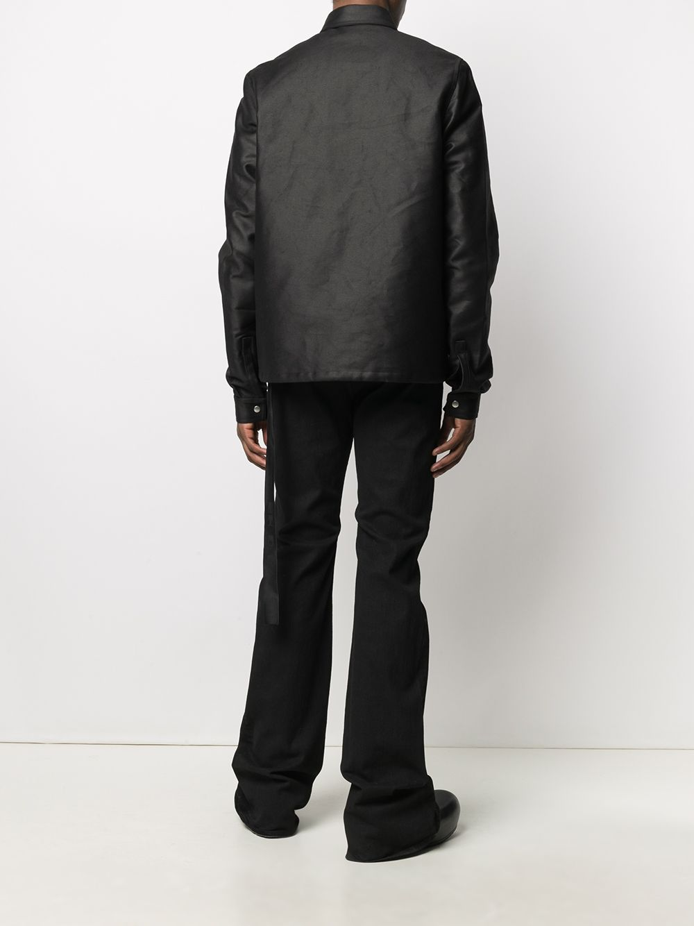 giacca snap front uomo nera RICK OWENS DRKSHDW   Giacche   DU02A3782 NDK09