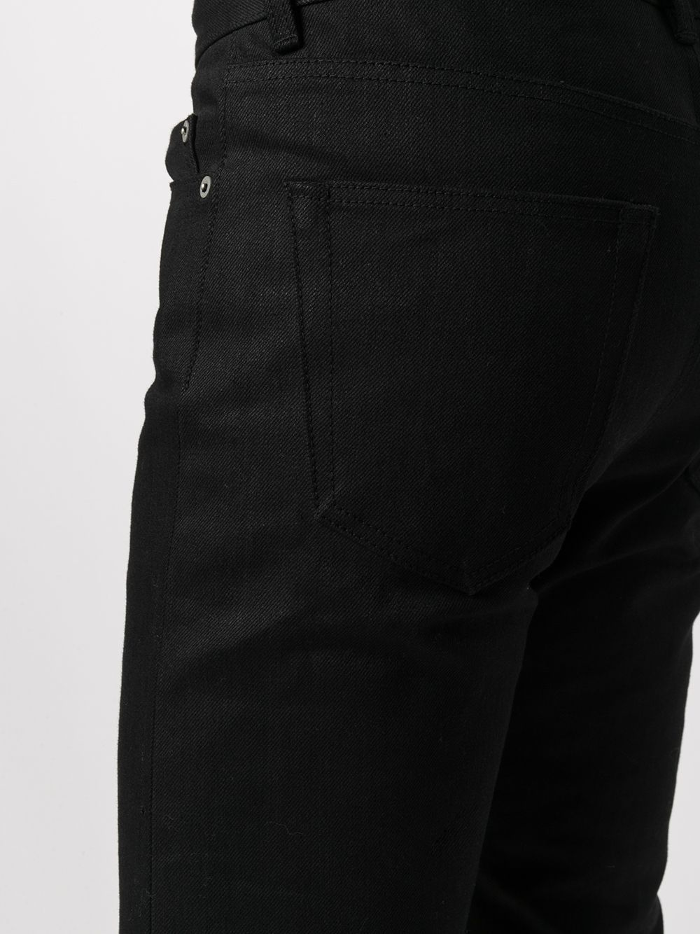 jeans dritti uomo neri in cotone RICK OWENS | Jeans | RR02A5309 HBLKJP09
