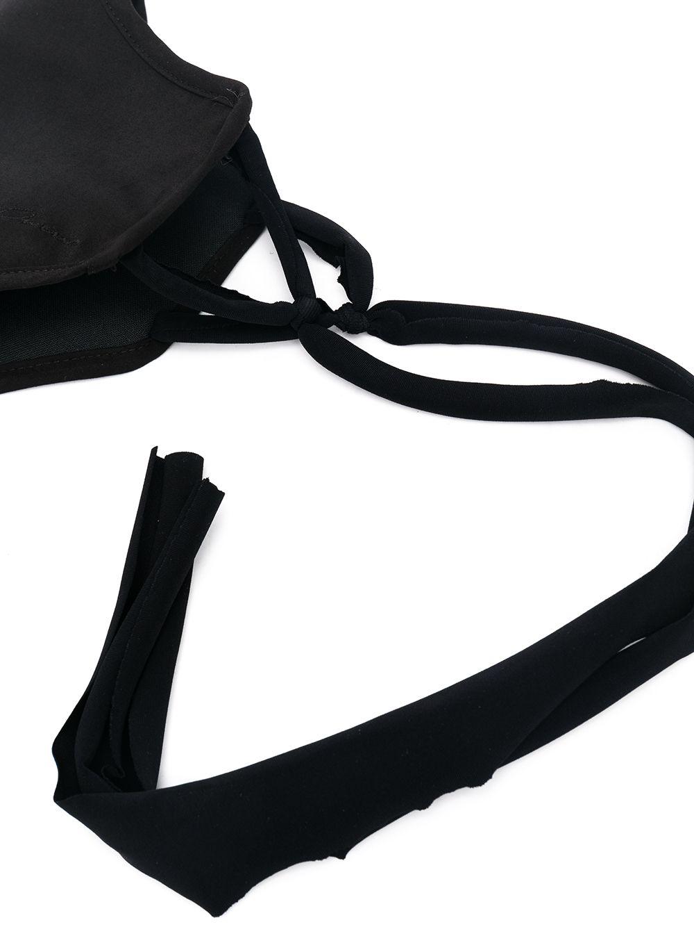 mascherina con logo uomo nera in cotone RICK OWENS   Mascherine   RR02A5452 P09