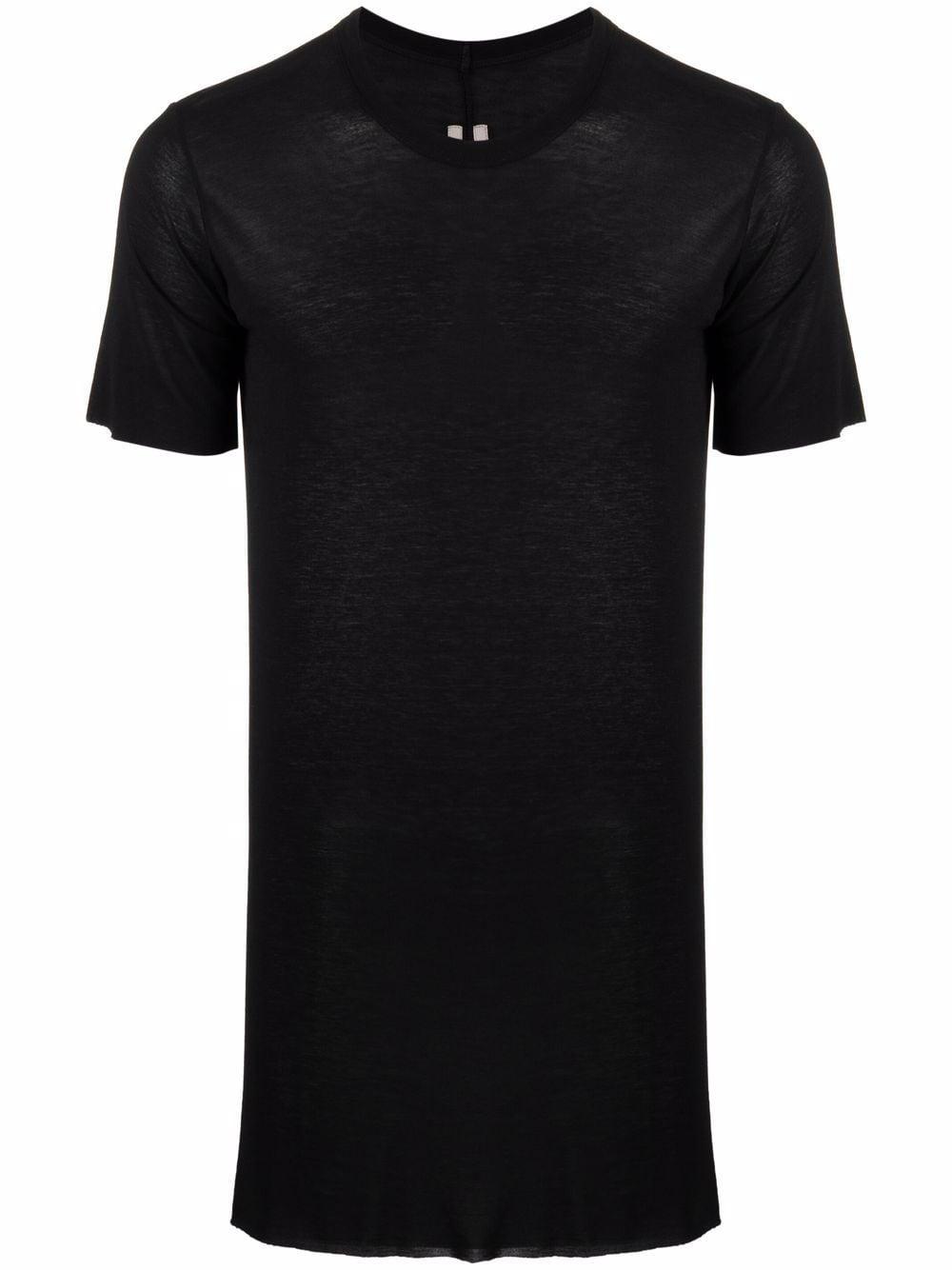 silk blend t-shirt man black RICK OWENS | T-shirts | RU02A5251 JS09