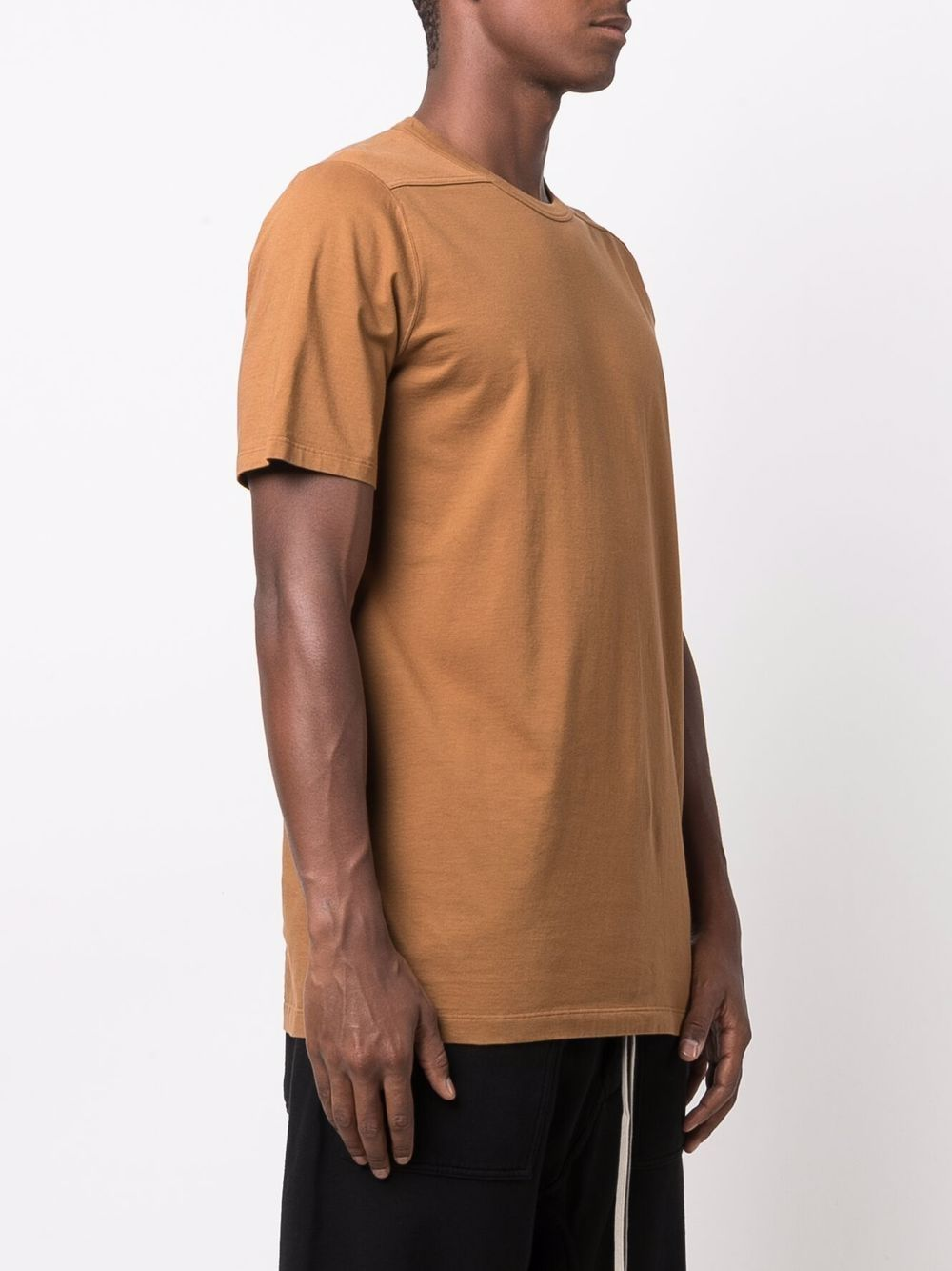 t-shirt level t uomo beige in cotone RICK OWENS | T-shirt | RU02A5264 JA24