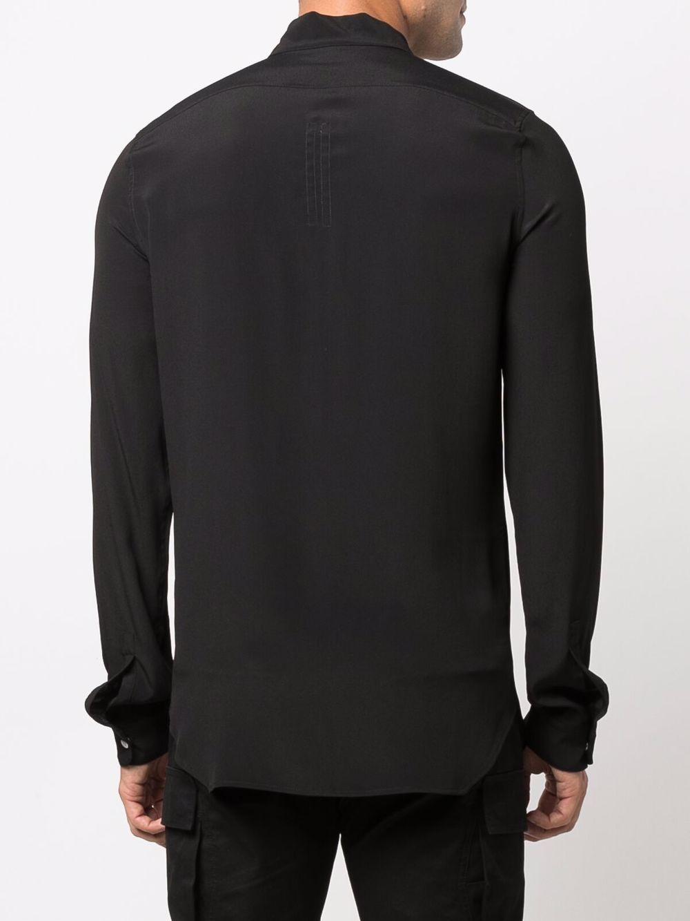camicia in misto seta uomo nera RICK OWENS | Camicie | RU02A5290 CC09