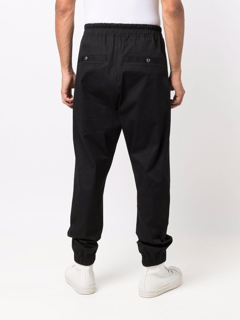 sport trousers man black in cotton RICK OWENS | Trousers | RU02A5370 TE09