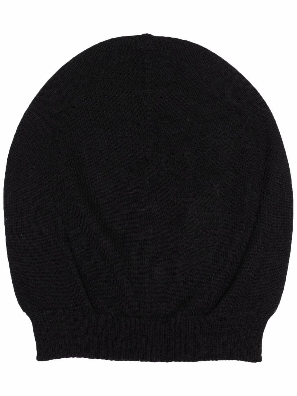 cappello in cashmere uomo nero RICK OWENS | Cappelli | RU02A5494 WS09