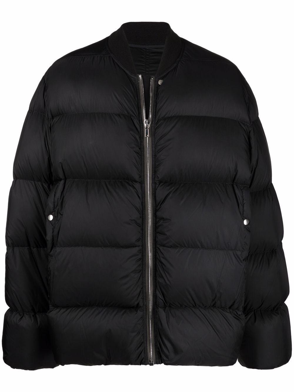 piumino oversize uomo nero in piuma d'oca RICK OWENS | Giacche | RU02A5788 NZD309