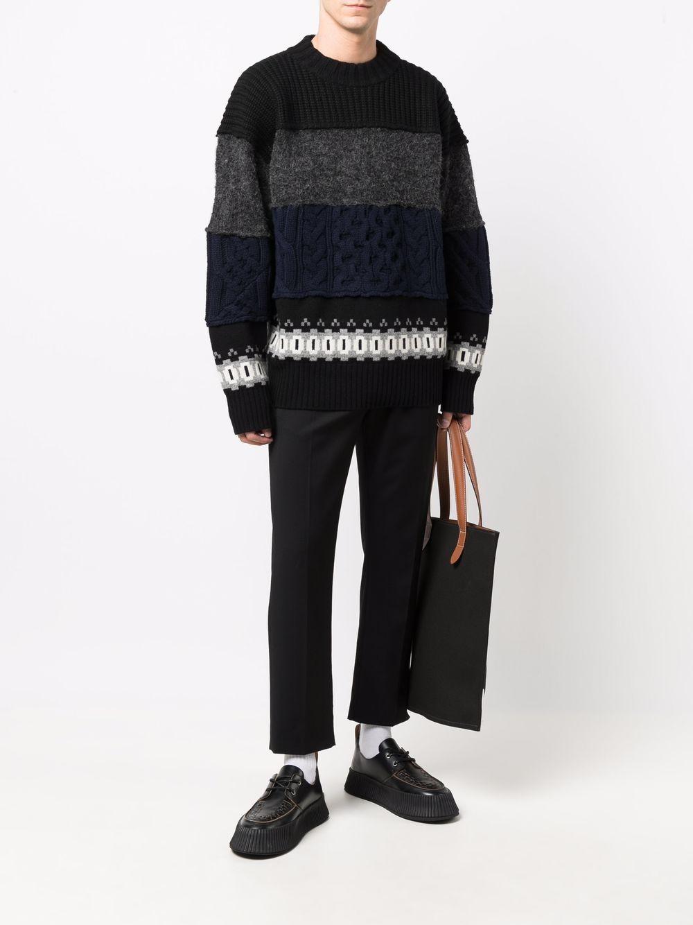 braided sweater man in wool SACAI   Sweaters   21-02612M007