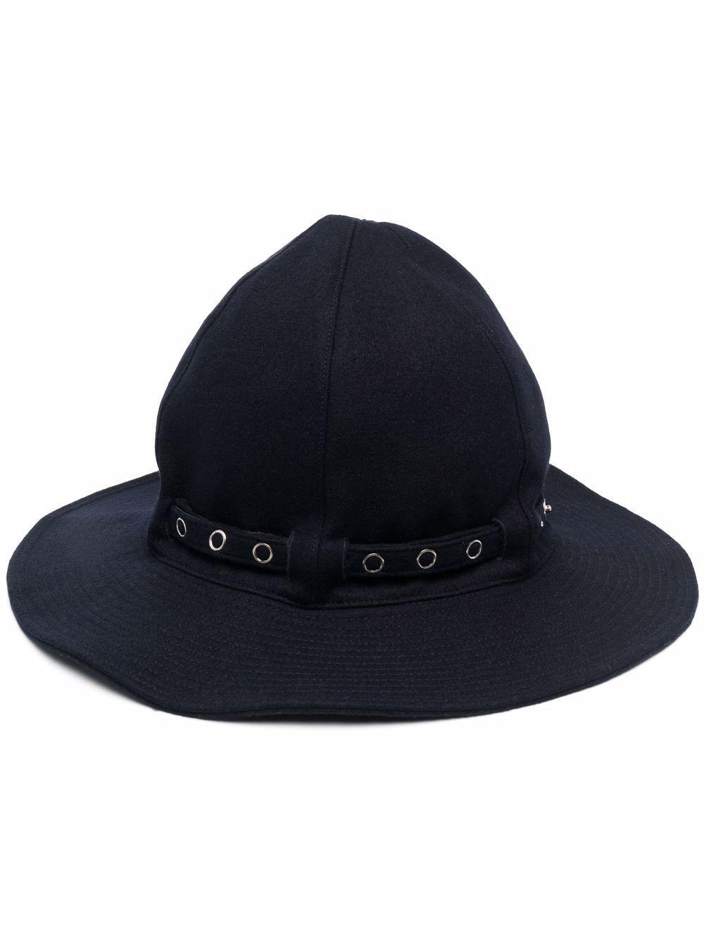 melton mountain metro hat man navy in wool SACAI | Hats | 21-0273S201
