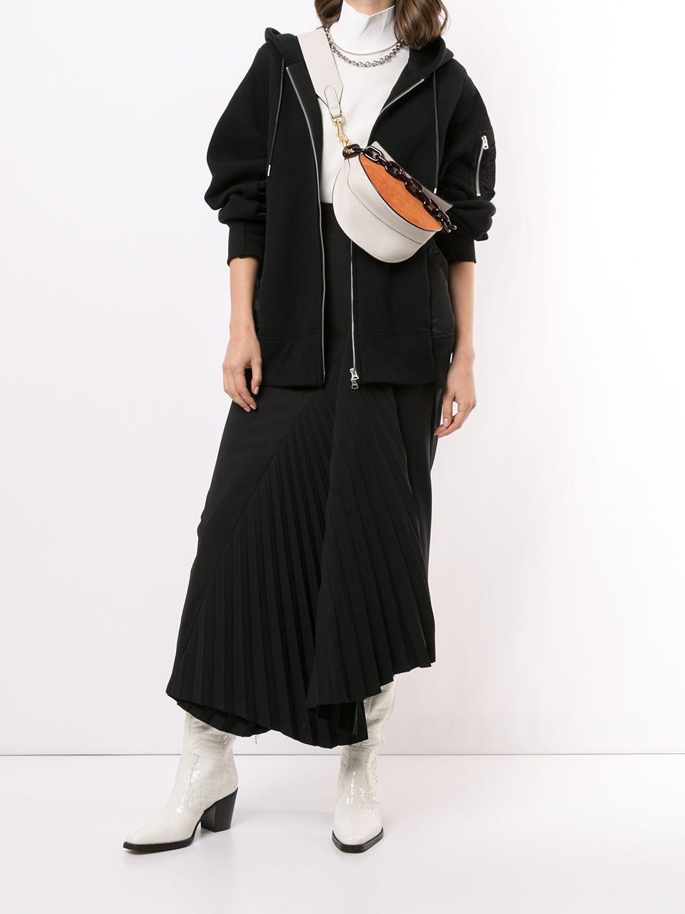 sponge sweat x ma1 hoodie unisex black SACAI | Sweatshirts | SCM-036002