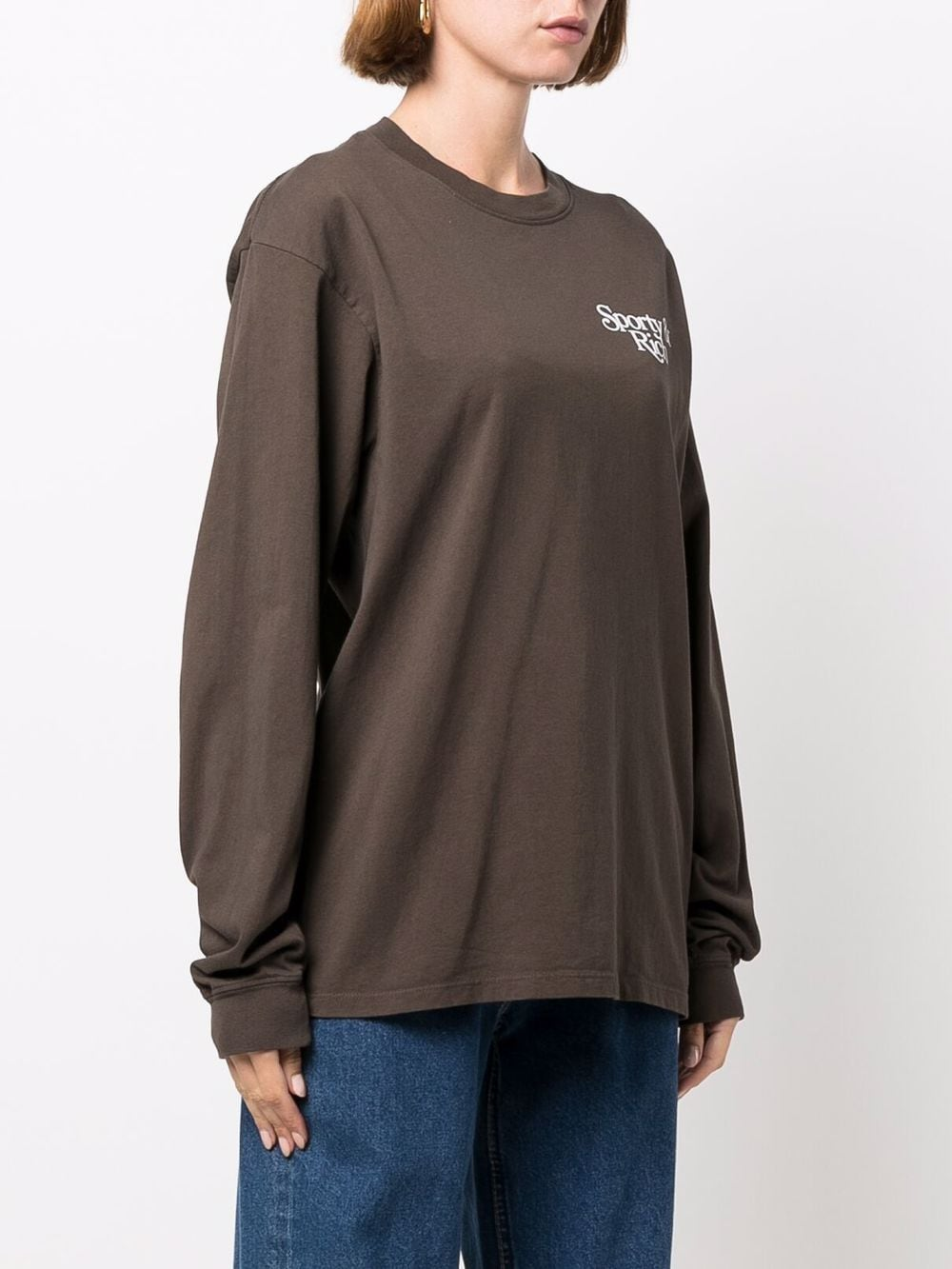 bardot t-shirt women brown in cotton SPORTY & RICH | T-shirts | LO261CH
