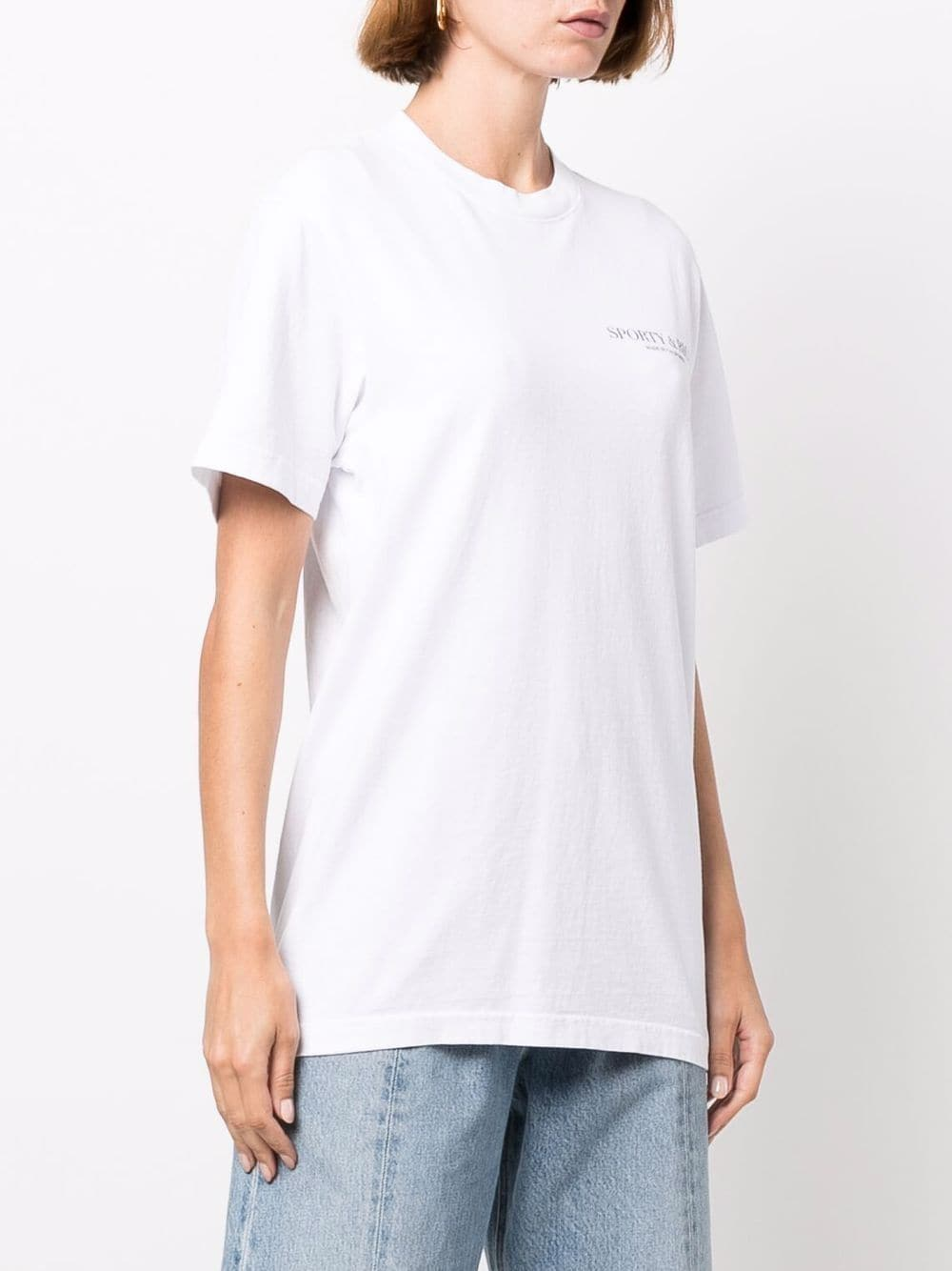 t-shirt california unisex bianca in cotone SPORTY & RICH   T-shirt   TS262WH