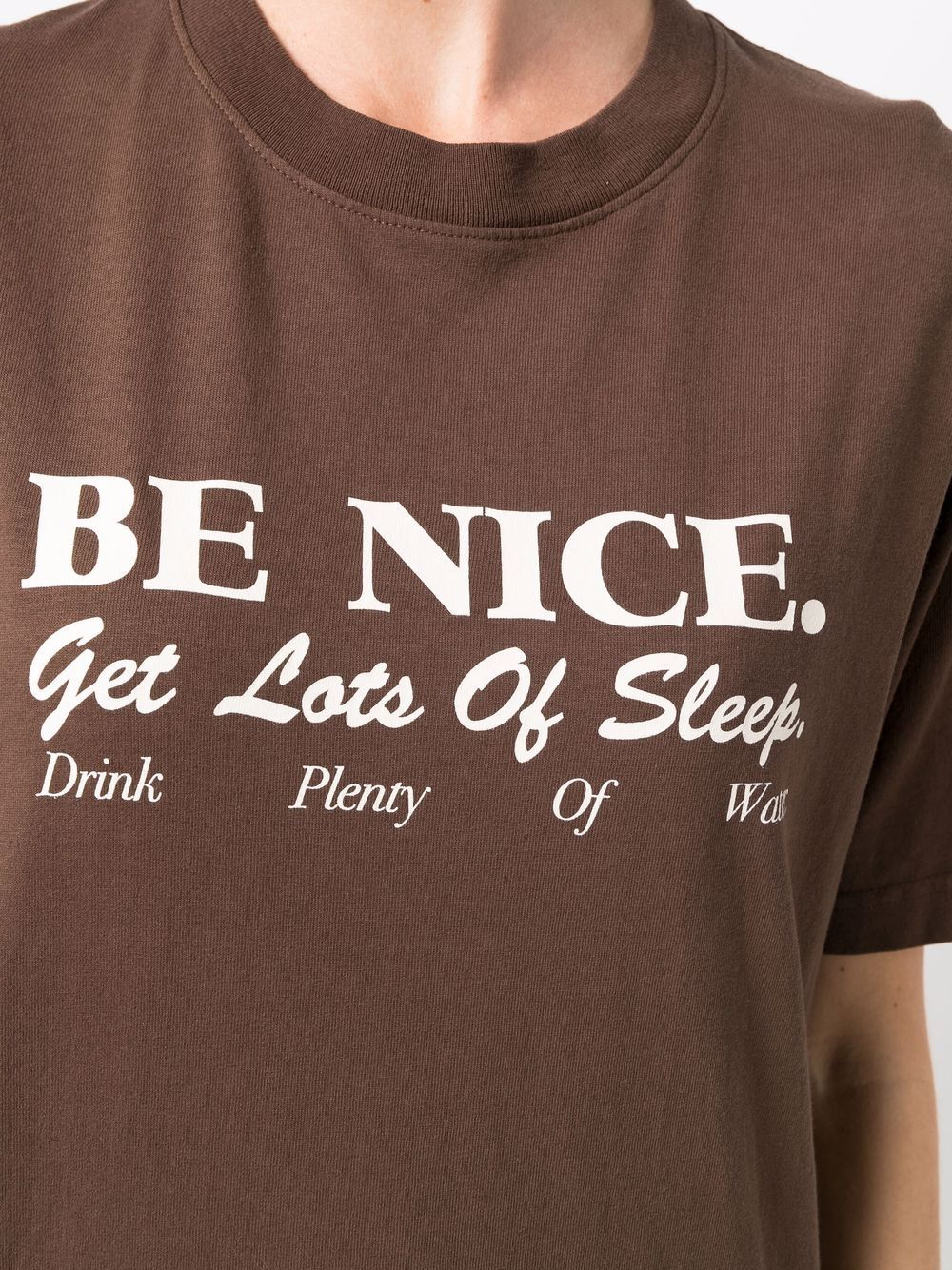 t-shirt be nice unisex marrone in cotone SPORTY & RICH | T-shirt | TS263CH