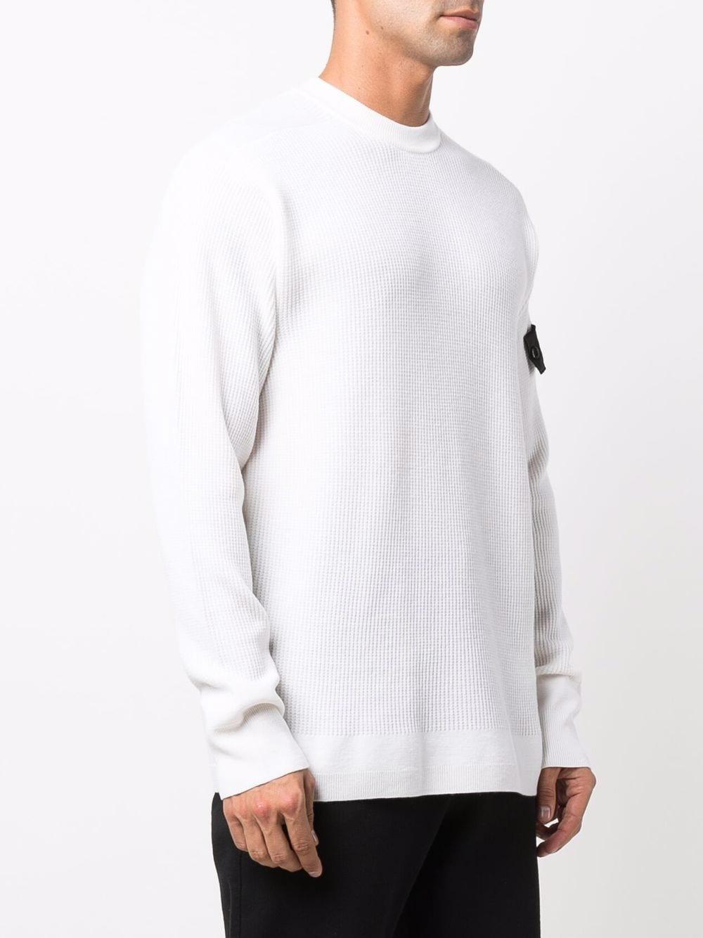 maglione con applicazione uomo bianco in lana STONE ISLAND SHADOW PROJECT | Maglieria | 7519505A1V1001