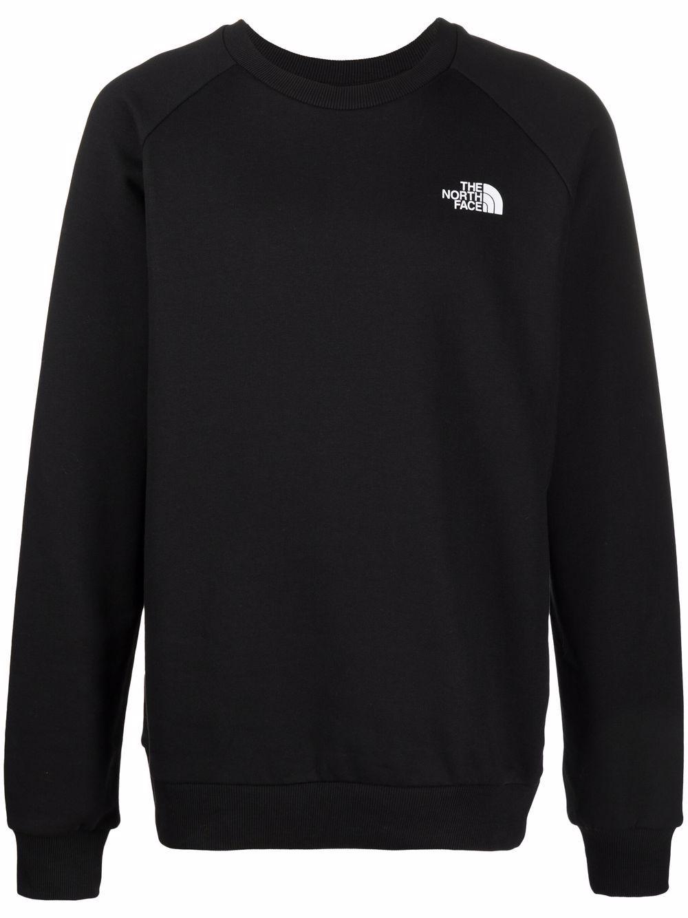 raglan redbox sweatshirt man black in cotton THE NORTH FACE   Sweatshirts   NF0A4SZ9JK31