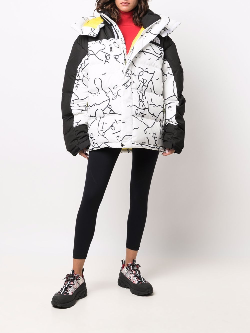hmlyn parka down jacket man white and black THE NORTH FACE | Jackets | NF0A55I626C1