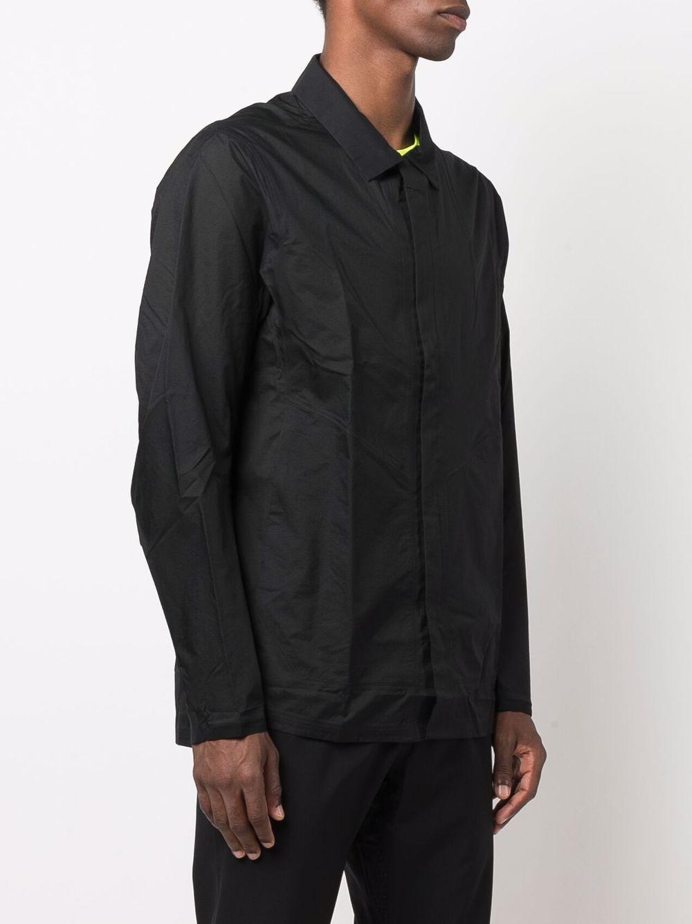 shirt jacket man black in nylon VEILANCE | Shirts | 45883BLACK