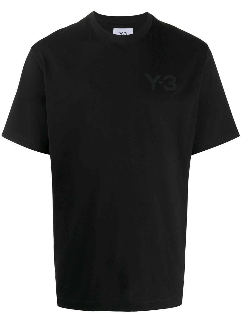 logo t-shirt man black in cotton Y-3   T-shirts   FN3358BLACK