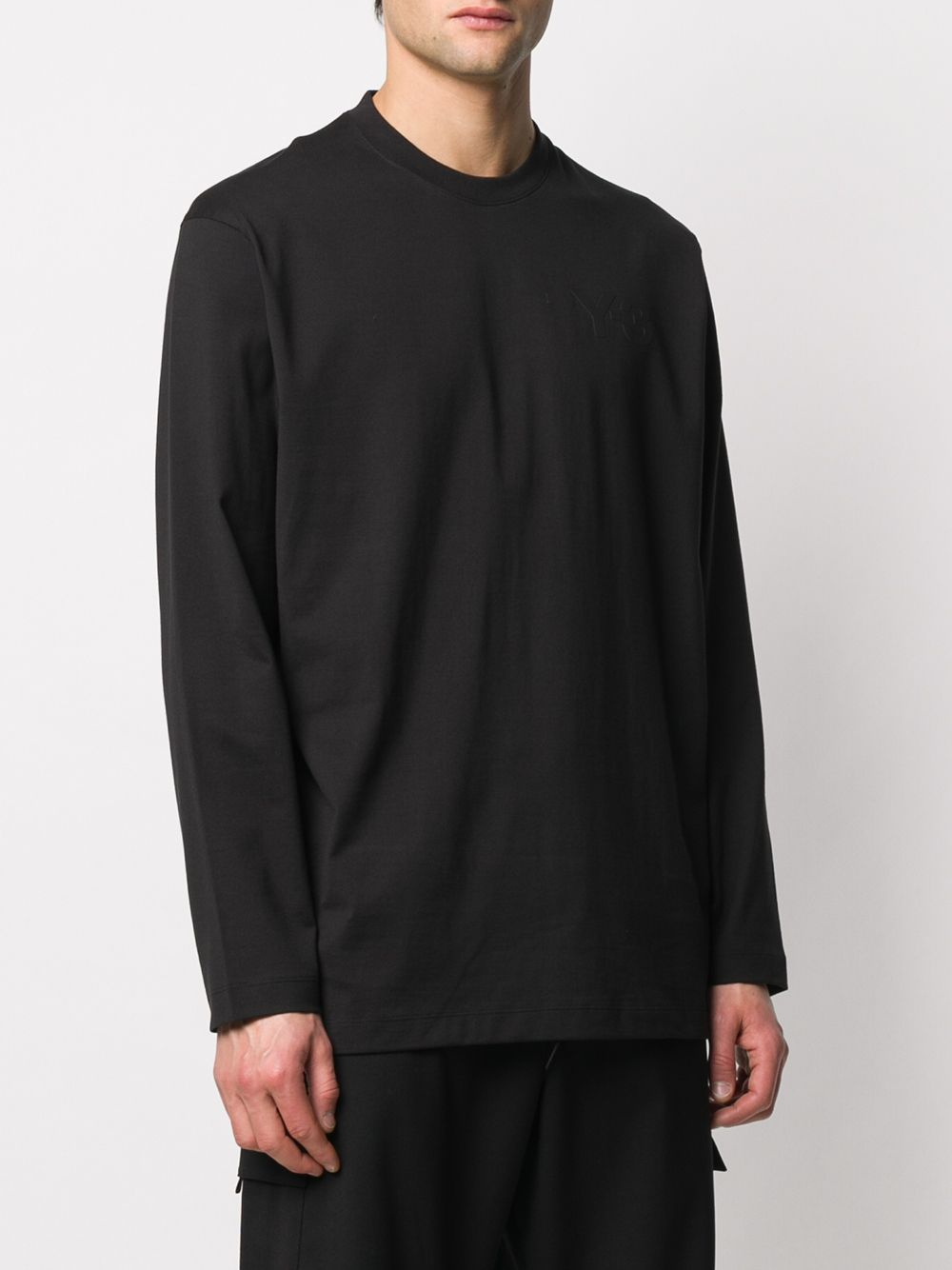 long sleeves t-shirt man black in cotton Y-3 | T-shirts | FN3361BLACK