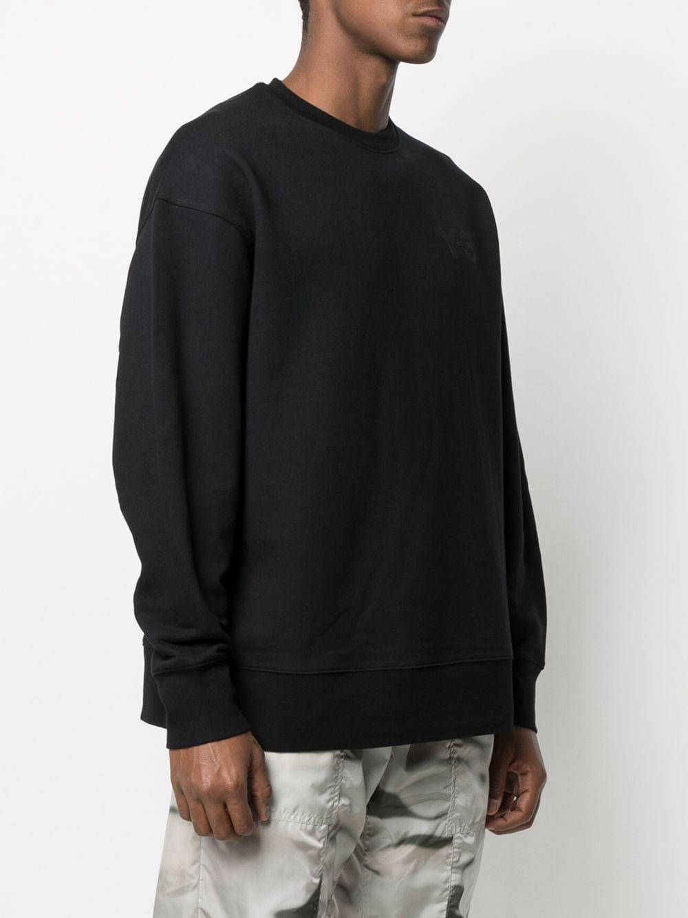 logo sweatshirt man black in cotton Y-3 | Sweatshirts | GV4194BLACK