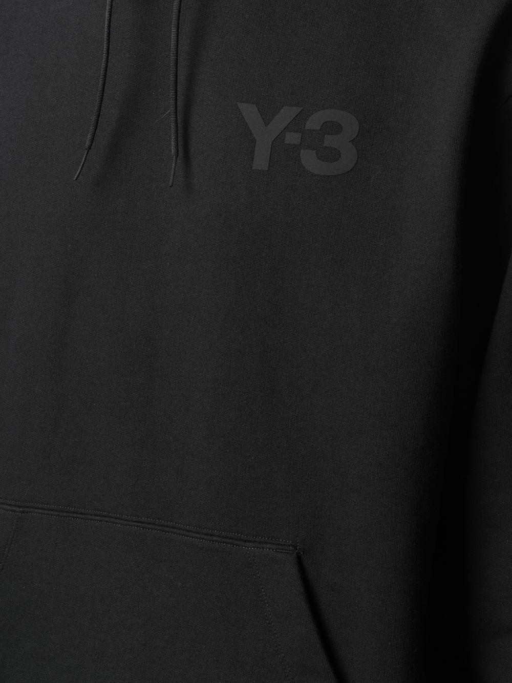 felpa con logo uomo nera in cotone Y-3   Felpe   GV4198BLACK