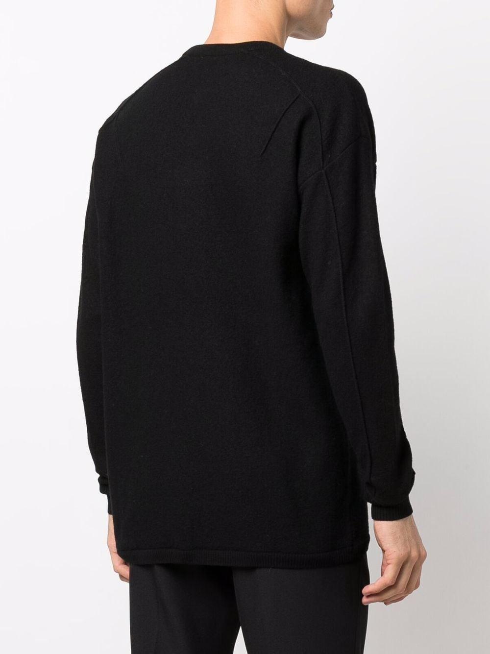 maglione a girocollo uomo nero in lana Y-3 | Maglieria | HB2783BLACK