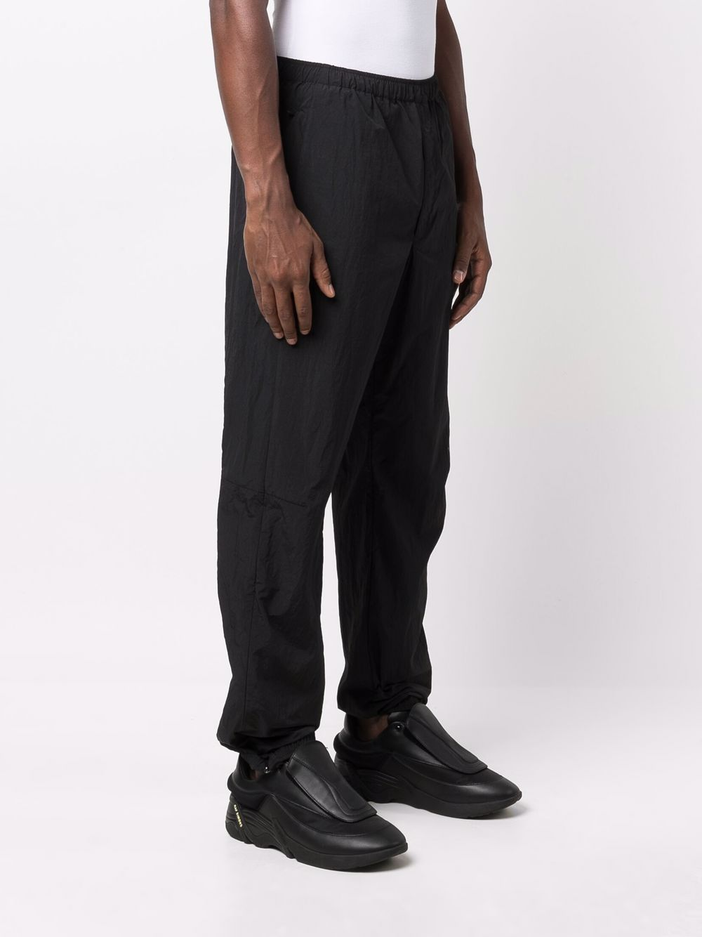 running pants man black in polyester Y-3 | Trousers | HB2786BLACK