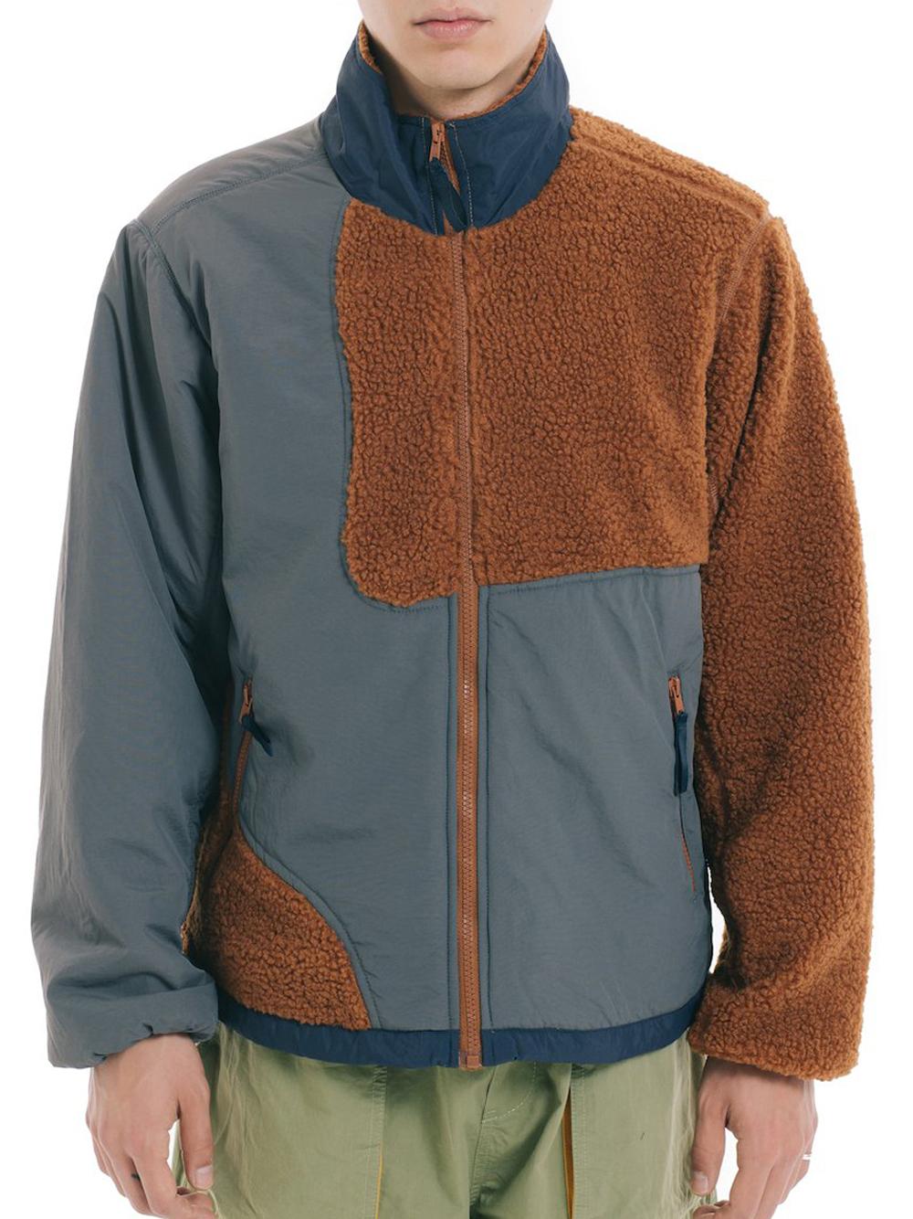 sherpa jackert man brown and gray  BRAIN DEAD | Jackets | F21O09001878BROWN