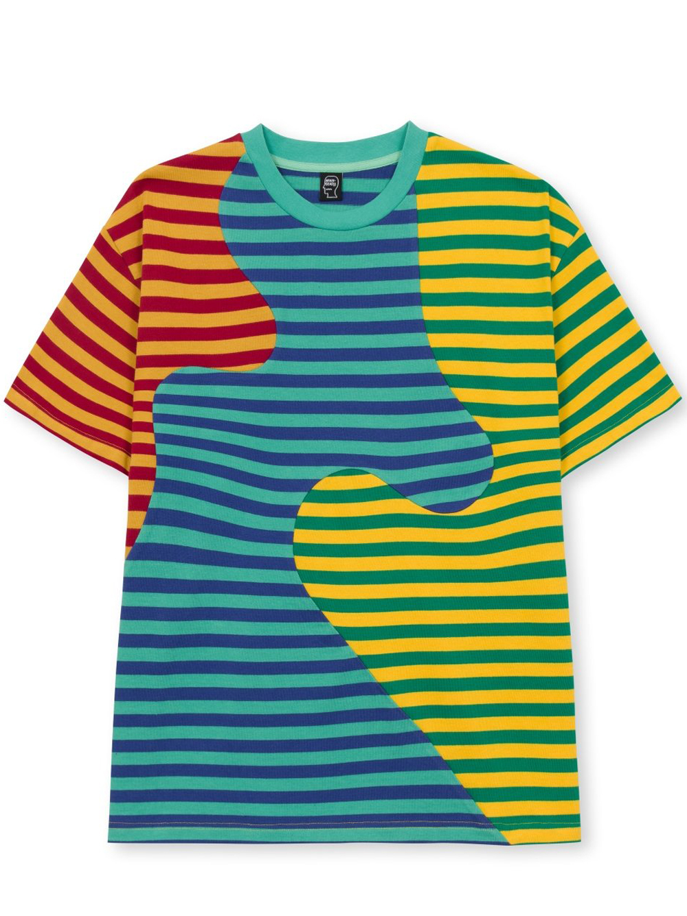 stripe t-shirt man multicolor in cotton BRAIN DEAD | T-shirts | F21T00001828GREEN