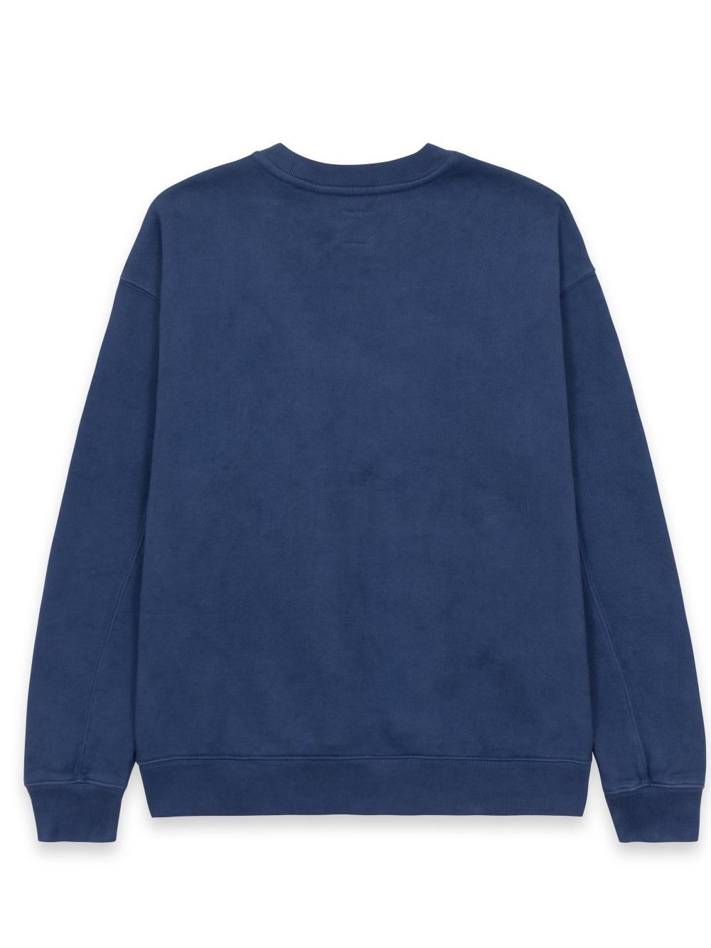 felpa relaxed cat uomo blu in cotone BRAIN DEAD | Maglieria | F21T10001950WSHEDNAVY