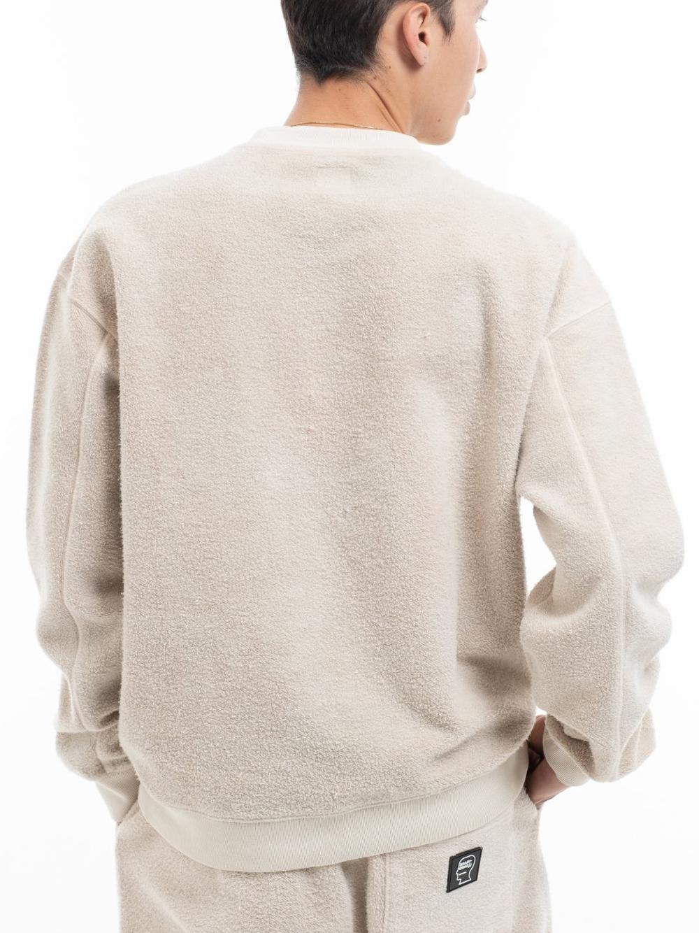 felpa slime reverse uomo natural in cotton BRAIN DEAD | Maglieria | F21T10002196NATURAL
