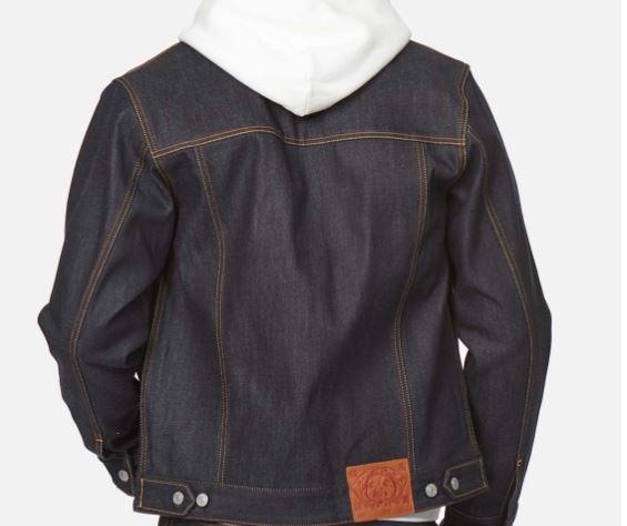 giacca denim uomo blu in cotone EVISU | Giacche | 2EABSM1DJ110XXINDX