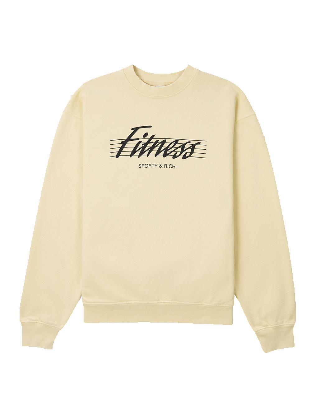 80's fitness crewneck Beige Unisex Cotton SPORTY & RICH | Sweatshirts | CR164CP