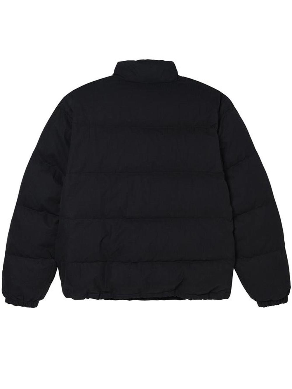 solid puffer jacket man black STUSSY | Jackets | 115544BLACK