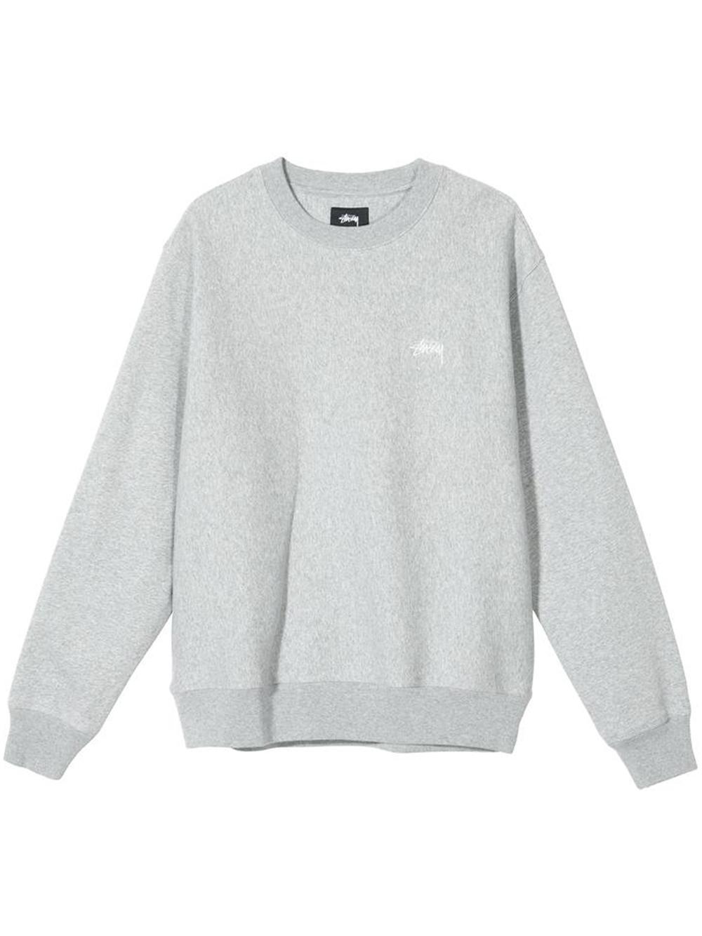 stock logo crew man gray in cotton STUSSY | Sweatshirts | 118416GREY