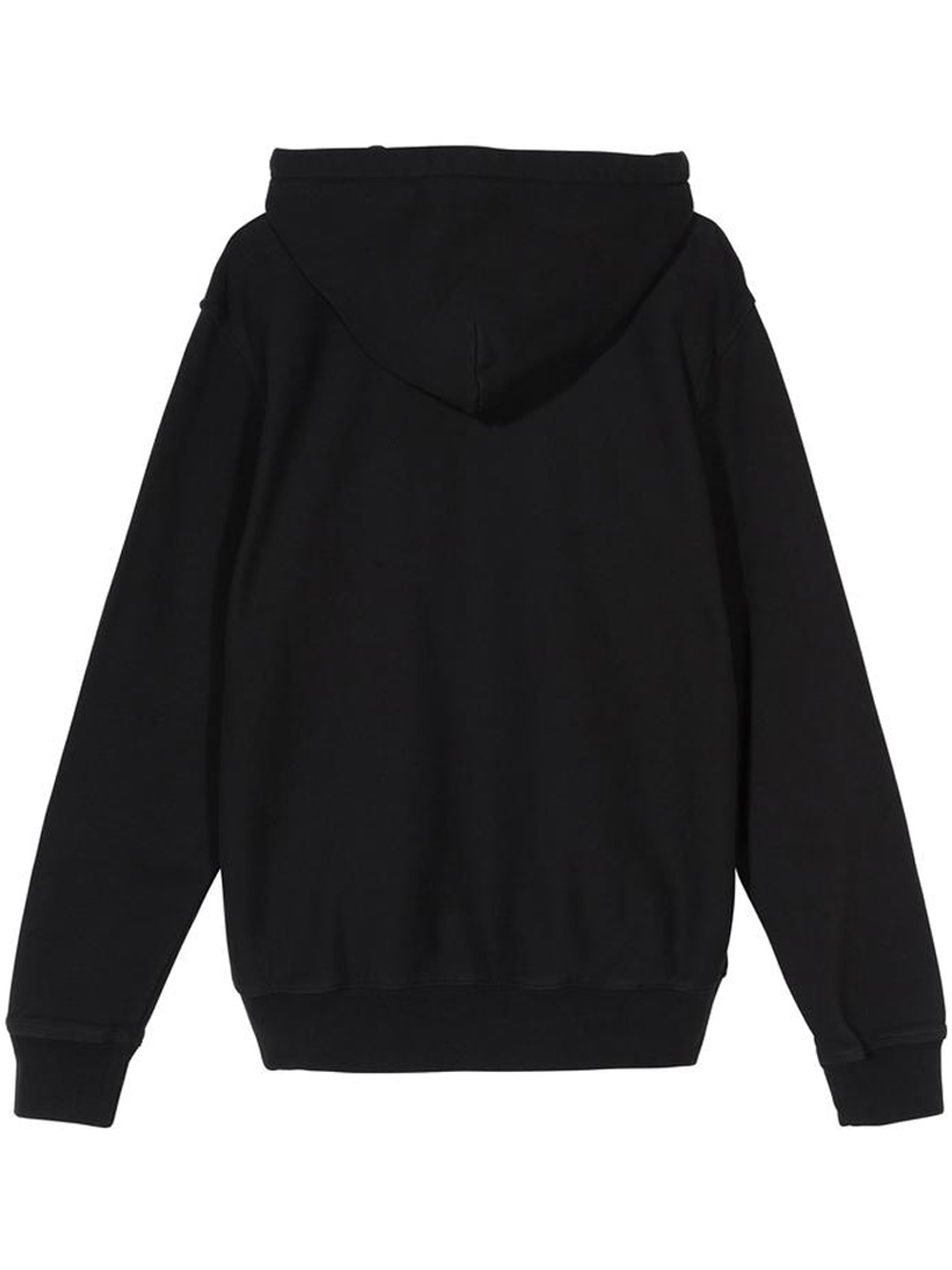 stock logo hoodie man black in cotton STUSSY   Sweatshirts   118417BLACK