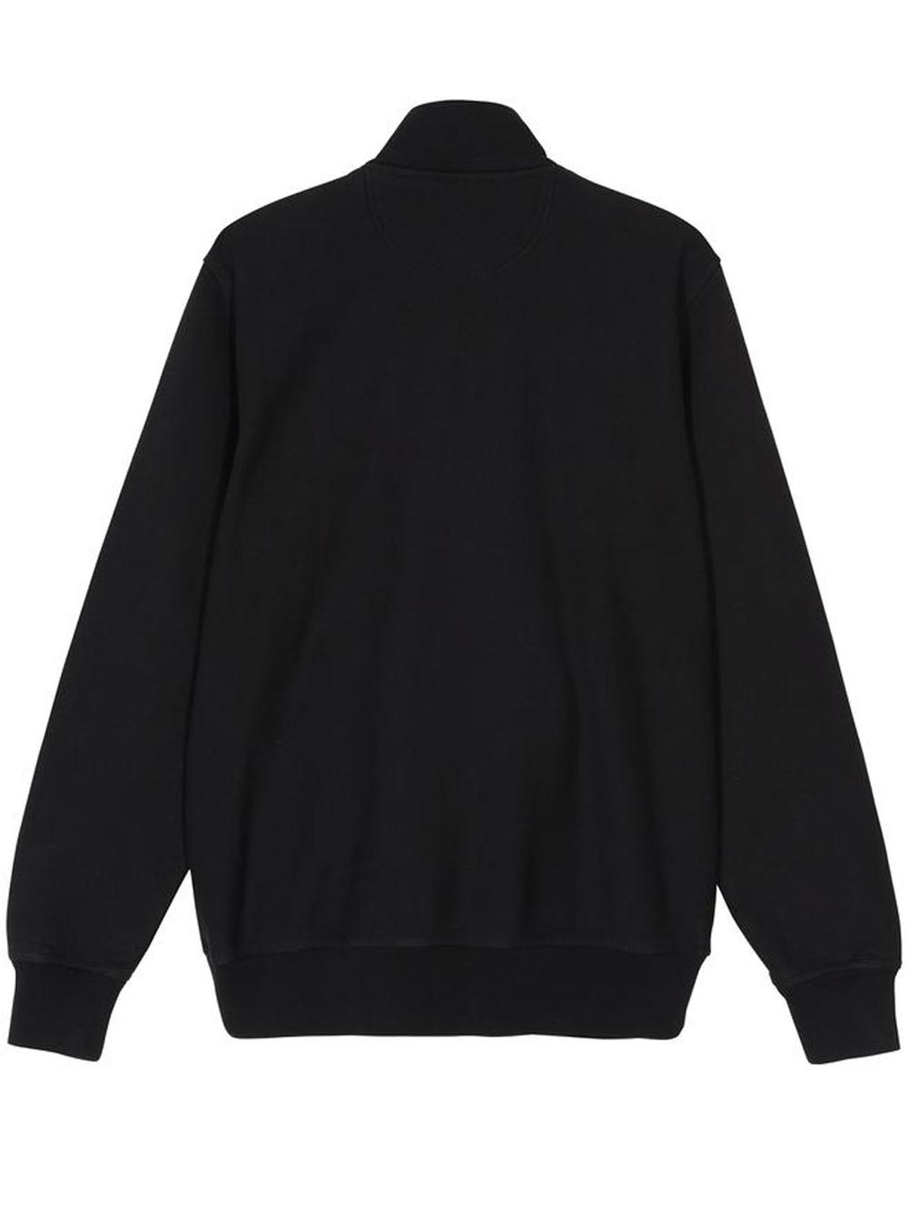 stock logo mock man black in cotton STUSSY   Sweatshirts   118418BLACK