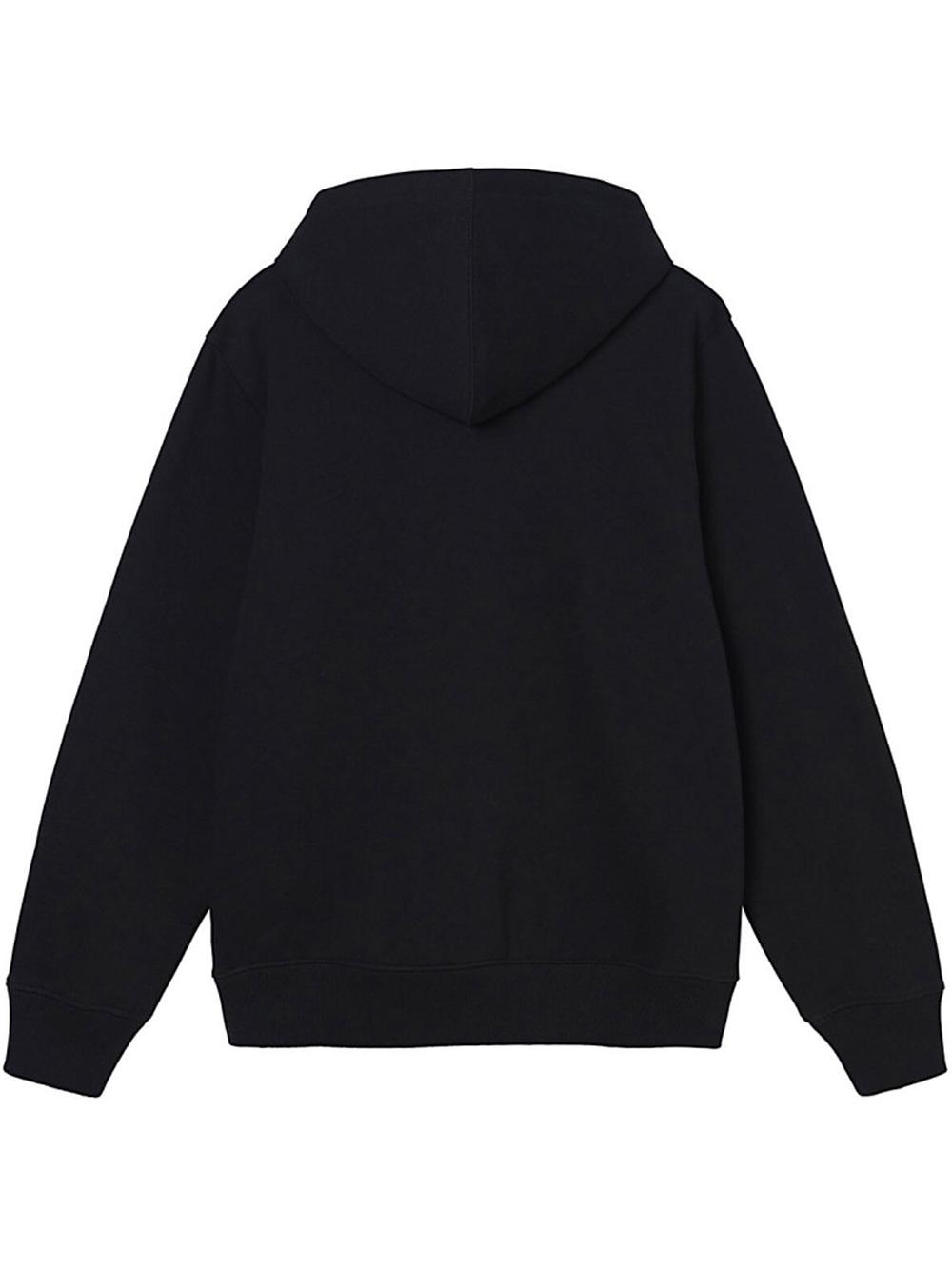 wear app hoodie man black in cotton STUSSY | Sweatshirts | 118446BLACK