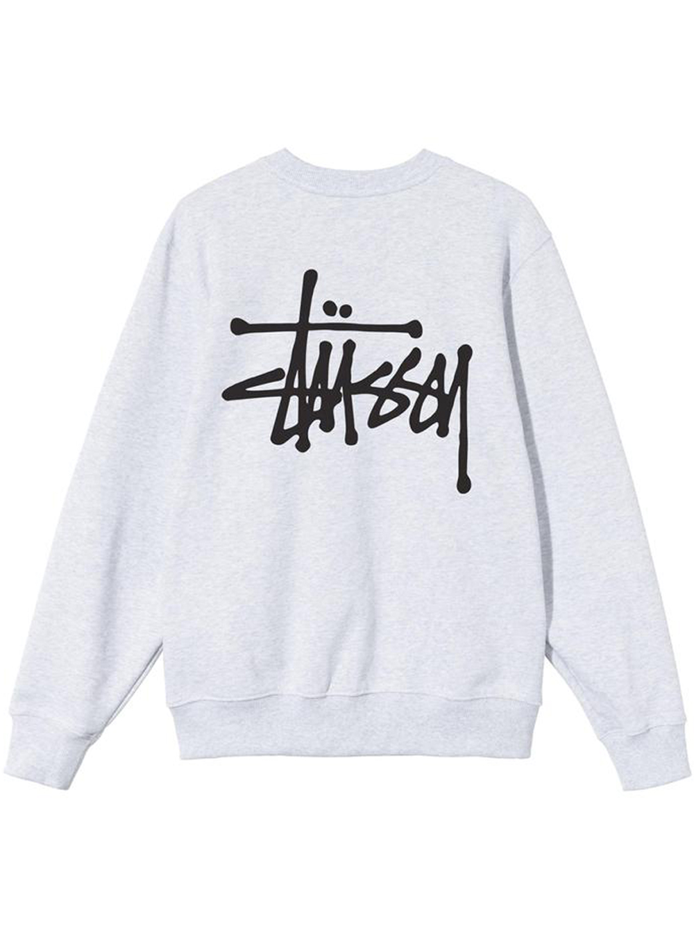 basic stussy crew man gray in cotton STUSSY   Sweatshirts   1914649SASH HEATHER