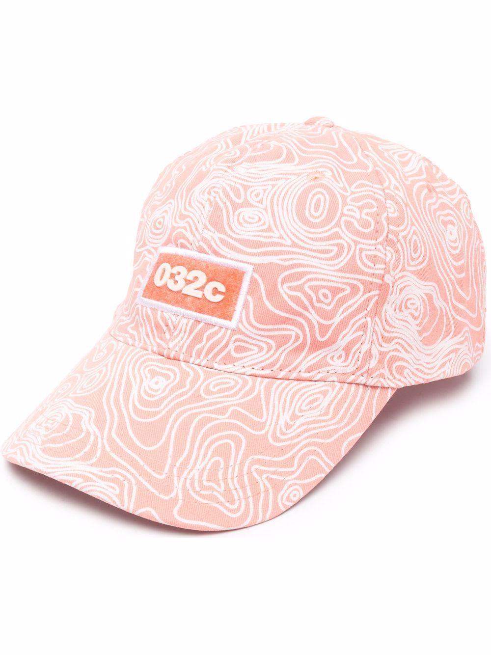 Logo hat pink man cotton 032c   Hats   SS21-A-0031EX NEON CORAL