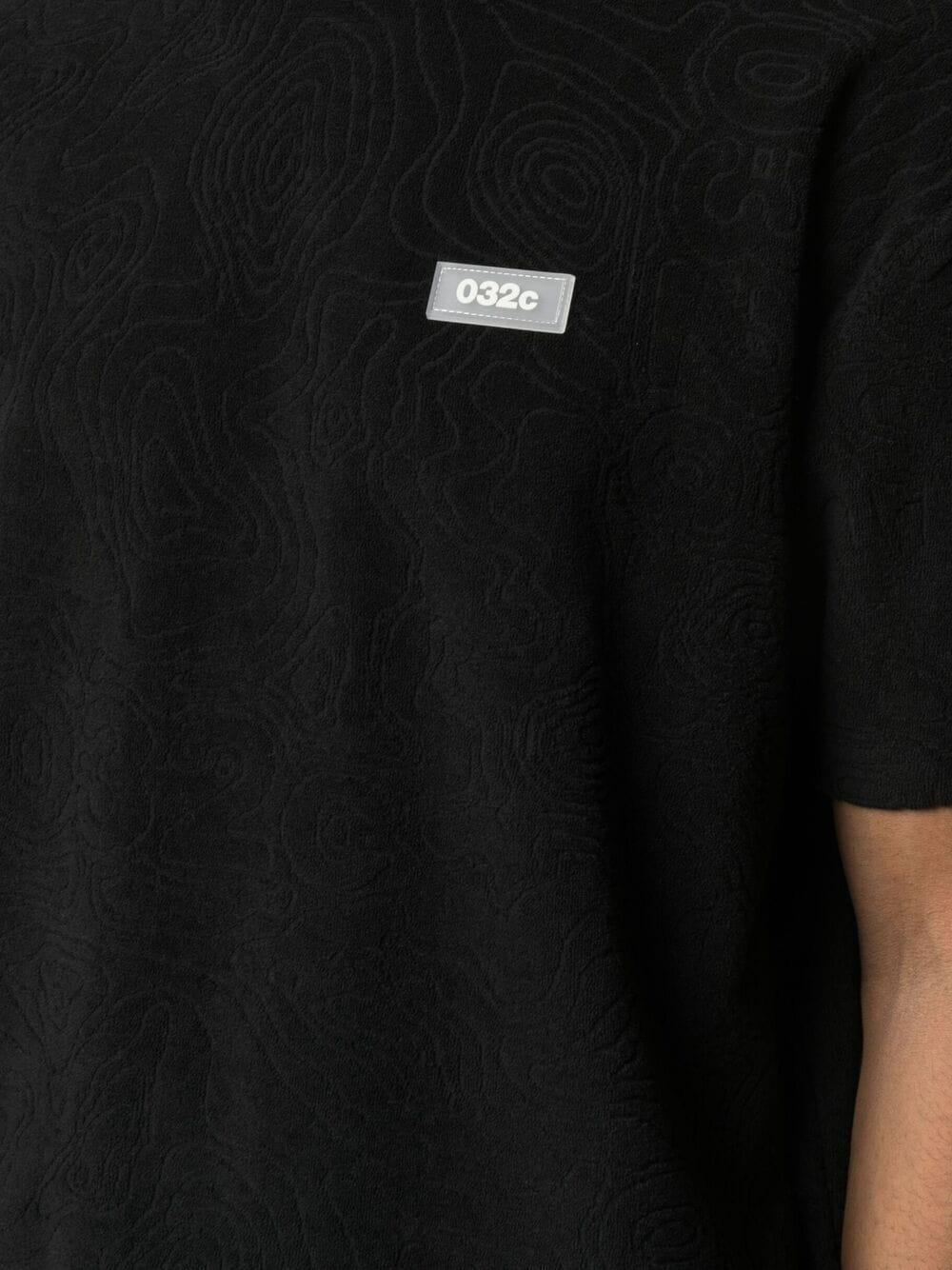 032c patch logo t-shirt man black 032c | T-shirts | SS21-C-1010BLACK
