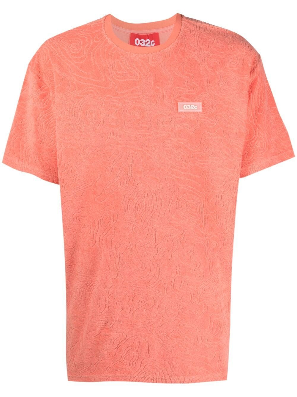logo t-shirt man coral in cotton 032c | T-shirts | SS21-C-1011CORAL