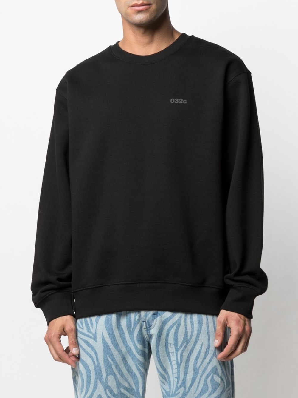 Heatwave crewneck sweatshirt man 032c   Sweatshirts   SS21-C-2060BLACK