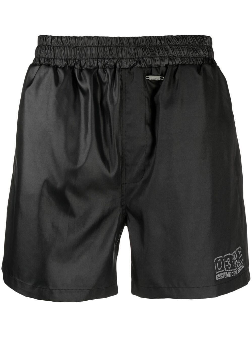 032c logo embroidered shorts man black 032c | Shorts | SS21-W-2030BLACK