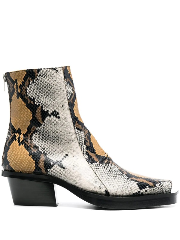 1017 Alyx 9sm phyton ankle boots man multicolor 1017 ALYX 9SM | Boots | AAMBO0051LE03MTY0001