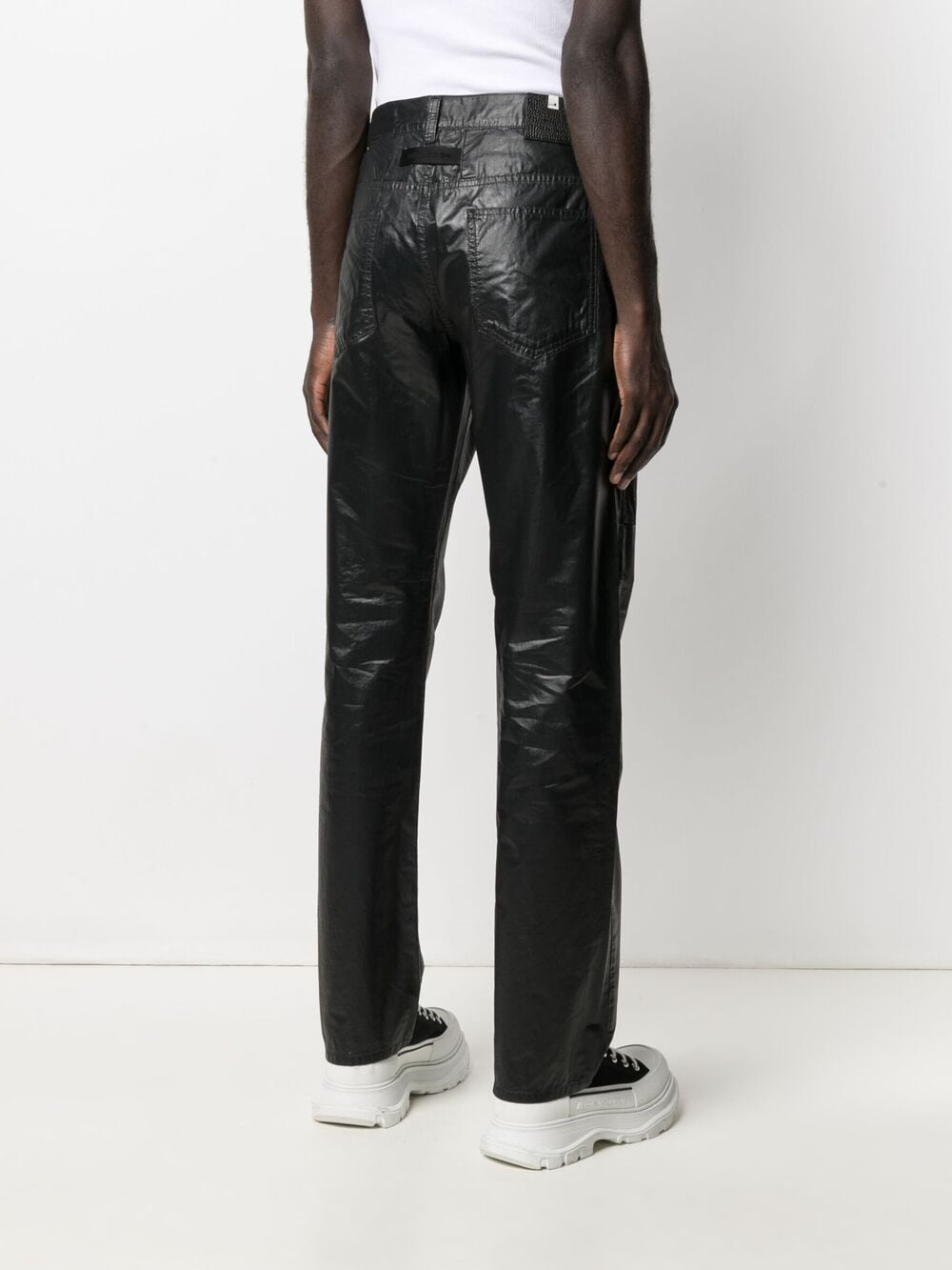 1017 Alyx 9sm mid rise straight leg trousers man black 1017 ALYX 9SM | Jeans | AAMPA0199FA01BLK0001