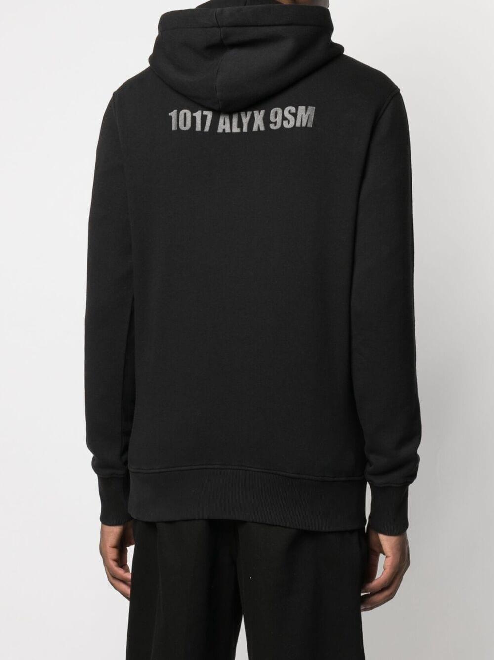 1017 Alyx 9sm logo sweatshirt man black 1017 ALYX 9SM | Sweatshirts | AAMSW0097FA01BLK0001