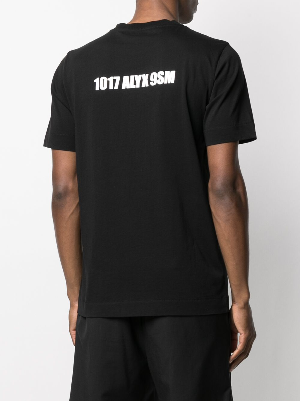 1017 Alyx 9sm mirrored logo t-shirt man black 1017 ALYX 9SM | T-shirts | AAMTS0204FA01BLK00001