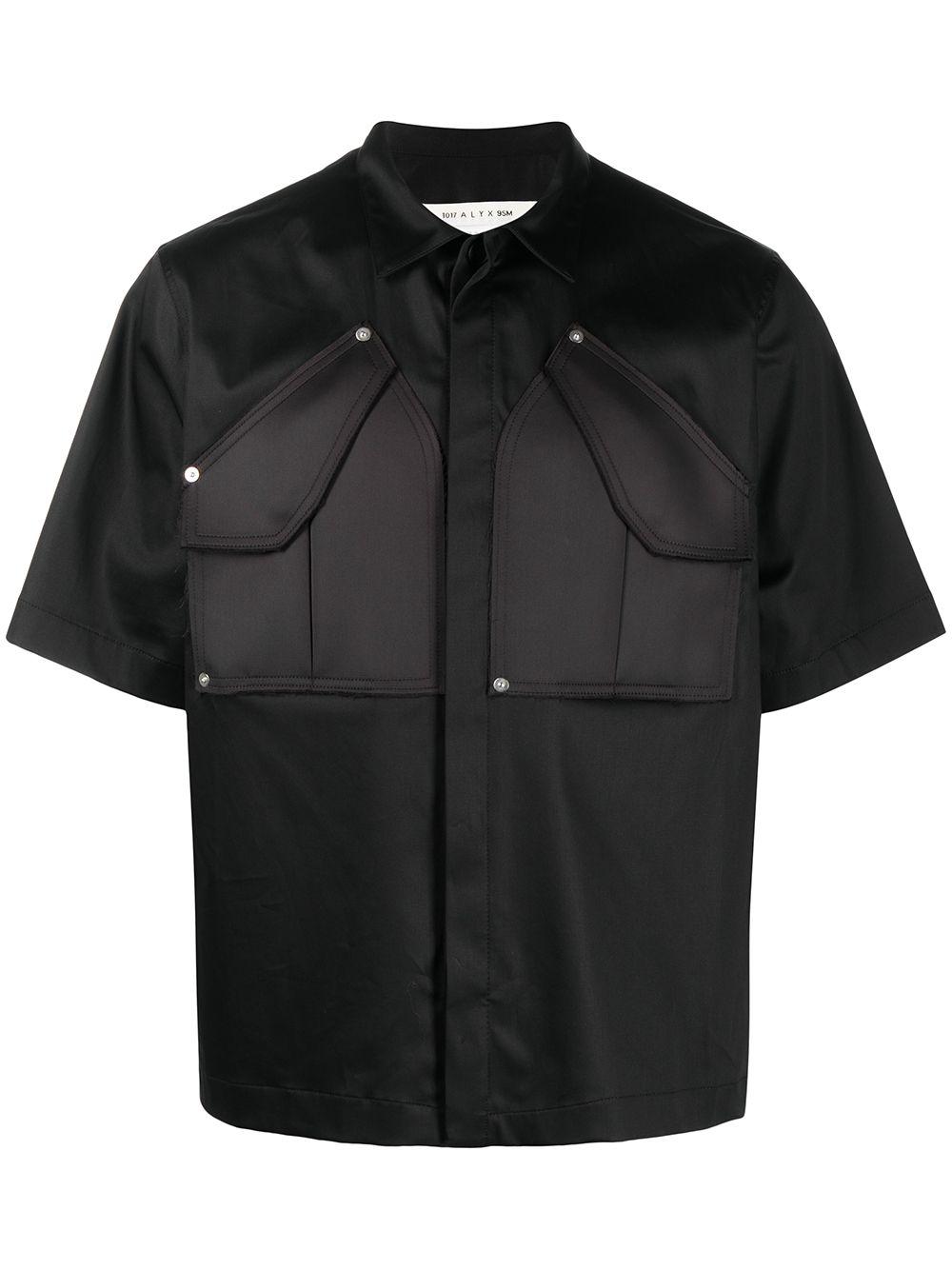 1017 Alyx 9Sm camicia cargo uomo nero 1017 ALYX 9SM | Camicie | AAUSH0102FA01BLK0001