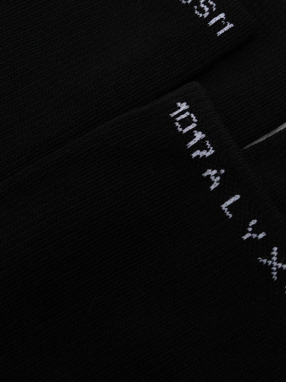 1017 Alyx 9Sm tripack socks man black 1017 ALYX 9SM | Socks | AAUSS0023FA01BLK001